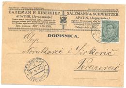 JUDAICA SALZMANN & SCHWEITZER APATIN YEAR 1934 - Serbien