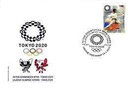 Republic Of North Macedonia/FDC/Sport/ Summer Olympic Games Tokyo 2020 - Macedonia