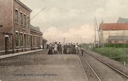 RARE! DERGNEAU. Station Gare Du Train De Dergneau Saint Sauveur. Prés De Watripont Et Anvaing. Couleur.  Bon état. - Boussu