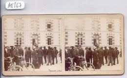 CARNAC- PHOTO-STEREO- DEVANT LE GRAND HOTEL DE CARNAC- SUR CARTON 65 X 130 MM- TOP - Carnac