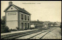 Cpa  Condé Sur Aisne (02)  Intérieur De La Gare - Altri Comuni