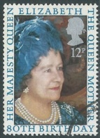 1980 GRAN BRETAGNA USATO COMPLEANNO REGINA MADRE ELISABETTA - RC7-5 - 1952-.... (Elisabetta II)