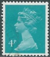 1981 GRAN BRETAGNA USATO EFFIGIE REGINA ELISABETTA II 4 P - RC4-2 - 1952-.... (Elizabeth II)