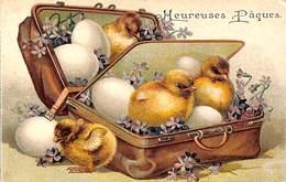 Heureuses Pâques - Poussins Oeufs Gauffrée - Pâques