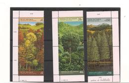 1988 SURVIE DES FORETS NEW YORK N° 515/16**- GENÈVE 165/66**-VIENNE 81/82** - Emissions Communes New York/Genève/Vienne