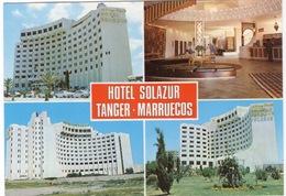 CPSM MAROC TANGER Hôtel Solazur Diverses Vues Extérieures Et Vue Intérieure - Tanger