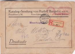 KATALOG-SENDUNG VON RUDOLF BANGEL. GERMANY COMMERCIAL COVER, CIRCULATED 1923. DRITTES REICH -LILHU - Deutschland