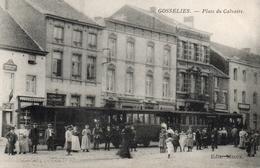 GOSSELIES. Tram Stoomtram.  Place Du Calvaire. Prés De Thiméon Et Jumet. Postée 1907    Bon état. - België