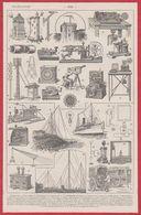Télégraphe Et Téléphone. TSF. Illustration Maurice Dessertenne. Matériel, Télécommunication ... Larousse 1931. - Documenti Storici
