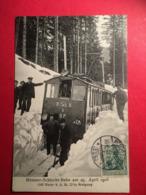 CPA Poskarte Début 1900 Münster Im Elsass Alsace Schlucht Bahn Am 25 Apvril 1908 Train Neige Tramway Gare Chemin De Fer - Munster