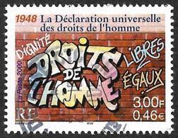 FRANCE  2000  -  Y&T 3354   - Droits De L'Homme   - Oblitéré - France