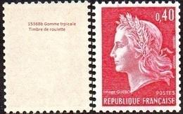 France N° 1536.Bb ** Marianne De Cheffer. La République Le 40 Cts Rouge Gomme Tropicale (roulette) - Nuovi