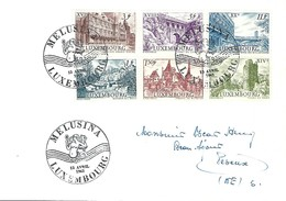Luxembourg  -  Lettre  -  13.4.1963  -  Melusina - FDC