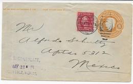 Mexico 1914 Ganzsache Des US-Konsulat - Mischfrankatur USA - Mexico - México