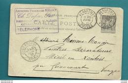 Vosges - Gerardmer Pour Ménil-en-Xaintois. 1901.  PHARMACIE - Marcophilie (Lettres)
