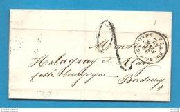 Gironde -Bourg Sur Gironde Pour Holgray à Bordeaux. LSC De 1849 - 1849-1876: Période Classique