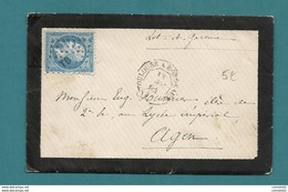 Ambulant De Toulouse à Bordeaux . 1864. Montauban Pour Un élève Au Lycée Impérial D'Agne (Lot Et Garonne). - 1849-1876: Periodo Classico