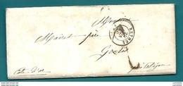 Ardennes - Rethel Pour Genlis (Cote D'Or). LAC De 1850 - Marcofilia (sobres)