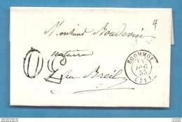 Sarthe - Ecommoy Pour Le Breil. CàD Type 15 + Taxe Tampon 30 - 1801-1848: Precursori XIX