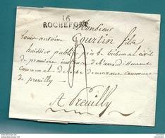 Céharente Inférieure - Rochefort Pour Preuilly.  MP 16/ROCHEFORT Sur LSC - 1801-1848: Précurseurs XIX