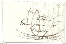 Aude - Carcassonne Pour Nancy. LAC De 1822 - Marcophilie (Lettres)