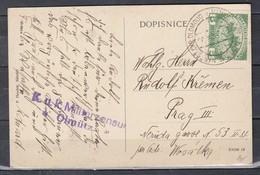 Postkaart Van Olomouce Naar Prag K.U.K. Militarzensur Olmutz  (799) - Enteros Postales