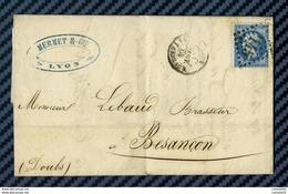 Rhone - Lyon Pour M. LEBAUD, Brasseur à Besancon (Doubs). LAC - 1849-1876: Periodo Classico