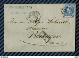 Bas Rhin - Strasbourg Pour M. LEBAUD, Brasseur à Besancon (Doubs). LAC - 1849-1876: Periodo Classico