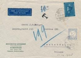 Nederlands Indië - 1938 - 15 Cent Jubileum Wilhelmina Op Taxed Business Cover Van LB BALIGE Naar Amsterdam - Netherlands Indies