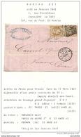 Paris - Bureau De Quartier DS1. Lettre Pour Vernon (Eure). 1863 - 1849-1876: Période Classique
