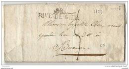 Loire - Rive De Gier Pour Besancon (Doubs). LAC De 1823 - Postmark Collection (Covers)