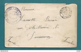 Poste Navale – Service à La Mer - Lettre Pour DOUARNENEZ (Finistère) - 1898   . PARIS ETRANGER - Marcophilie (Lettres)