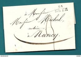 Moselle - Metz Pour Nancy. LAC De 1821 - 1801-1848: Précurseurs XIX