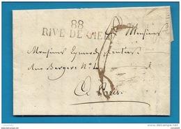 Loire - Rive De Gier Pour Paris. LAC De 1828 - Postmark Collection (Covers)