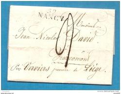 Meurthe - Nancy Pour Francomont Près Verviers (province De Liège, Pays Bas) - 1801-1848: Précurseurs XIX