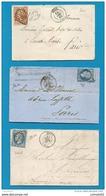 Moselle - Metz  -3 Documents - 1849-1876: Période Classique