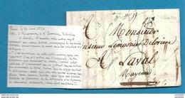 Accident De Diligence !!!  . LAC De Paris Pour Laval (Mayenne) - 1801-1848: Précurseurs XIX