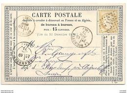 Savoie - La Rochette Pour St Jean De Maurienne - GC 3178 + CàD Type 16. FORGES AU BOIS // PONT DE RENS - 1849-1876: Periodo Classico
