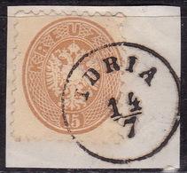 Idria - Idrija, On 15 Kr., Issue 1863/4, On Piece - 1850-1918 Imperium