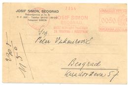 JUDAICA JOSIF SIMON BELGRADE YEAR 1940 - Servië