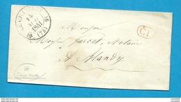 Seine Et Marne - Chatelet En Brie Pour Blandy. Correspondance Locale. PAS DE TAXE. - 1801-1848: Precursors XIX