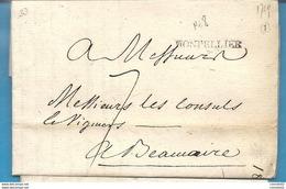 Hérault - Montpellier Pour Beaucaire (Gard). LAC De 1769 - 1701-1800: Précurseurs XVIII