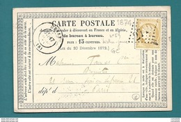 Corrèze - Objat Pour Paris. CàD Type 17 + GC 2710. 1874 - 1849-1876: Période Classique