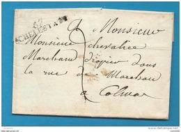 Bas Rhin - Selestat Pour Colmar (Haut Rhin). MP 67/SCHELESTATT - Postmark Collection (Covers)