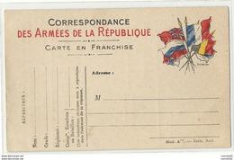 WW1 - CPFM à SIX Drapeaux. 4 Modèles Différents : Abis, *C, *D, M*. SUPERBE - Guerra Del 1914-18