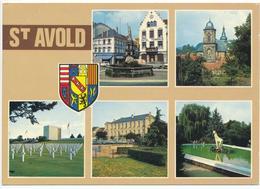 SAINT AVOLD (57.Moselle) Multivues.Place De La Victoire, Eglise, Cimetière US, Hôtel De Ville, Vue Du Parc - Saint-Avold