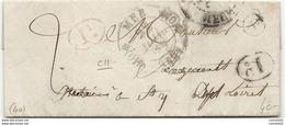 Loir Et Cher - Mer. CàD Double Fleurons. Decime Rural Noir Et Rouge Sur Le Meme Document. 1836. Indice 11 - Marcophilie (Lettres)