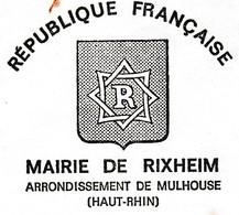 1978 / Mairie De Rixheim 68 / Demande Subventions Pour Fête De No^ël Pour Personnes âgées Et Indigents - Francia