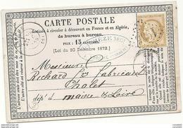 Corrèze - LARCHE Pour Cholet. CàD Type 17 + GC 1965 - 1849-1876: Periodo Classico