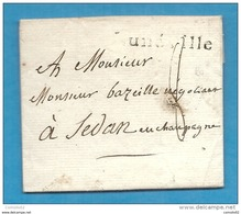 Meurthe - Luneville Pour Sedan (Ardennes). MP Lunéville - Storia Postale